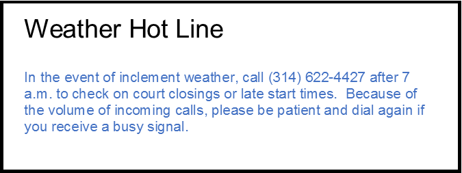 Weather Hot Line